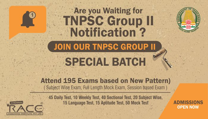 TNPSC GROUP 2 COACHING CLASSES IN TAMILNADU - RACE INSTITUTE