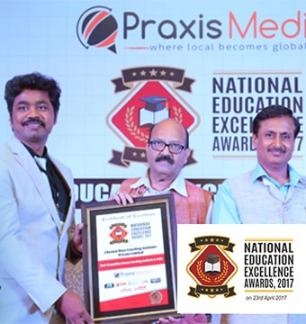 BEST BANK AND SSC EXAM COACHING INSTITUTE - AWARD BY PRAXIS MEDIA