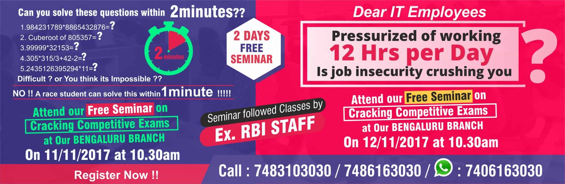 FREE SEMINAR CHENNAI RACE BANK SSC PSC COACHING INSTITUTE PVT LTD