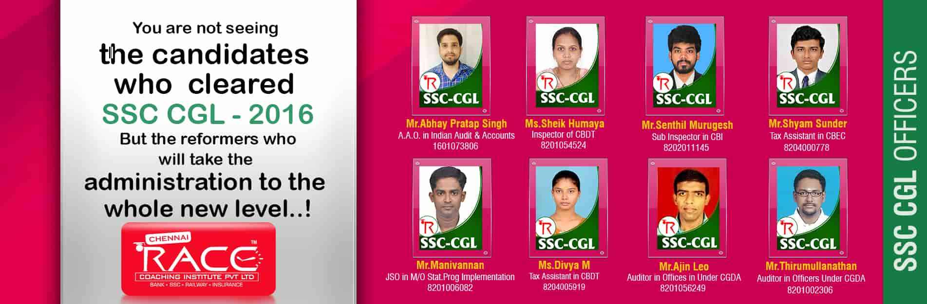 chennai race institute best coaching institute for bank po ssc insurance exams