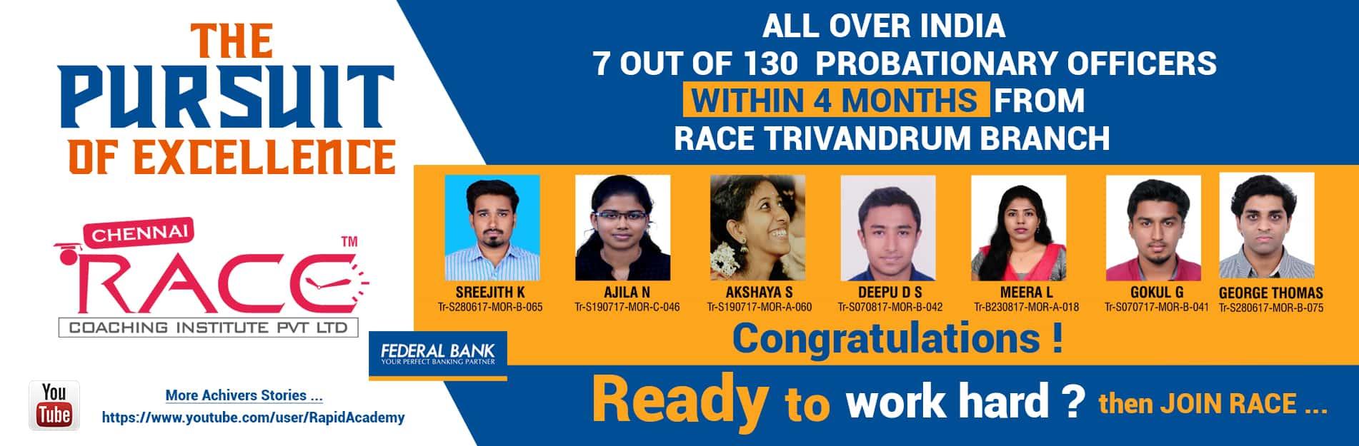 Race Institute trivandrum branch