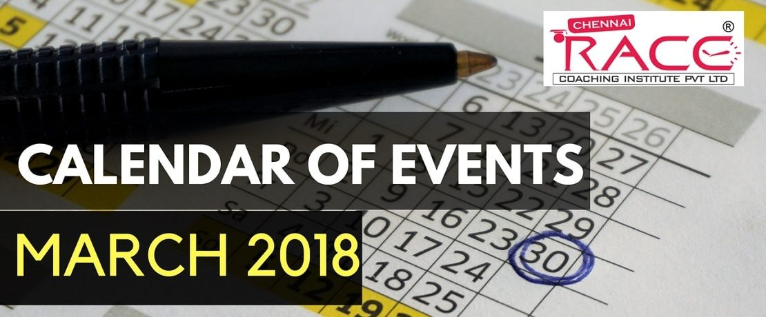 RACE INSTITUTE CALENDAR OF EVENTS MARCH 2018