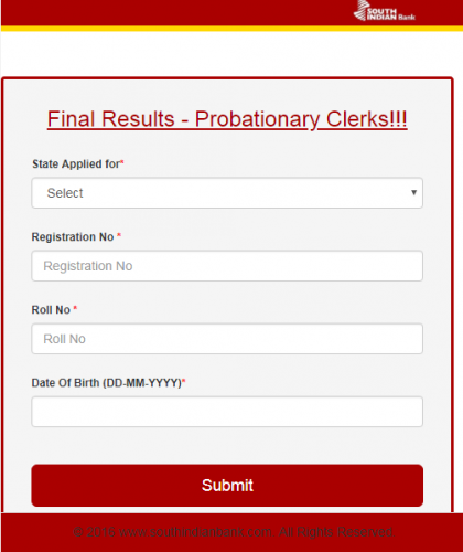 sib probationary clerk result 2018