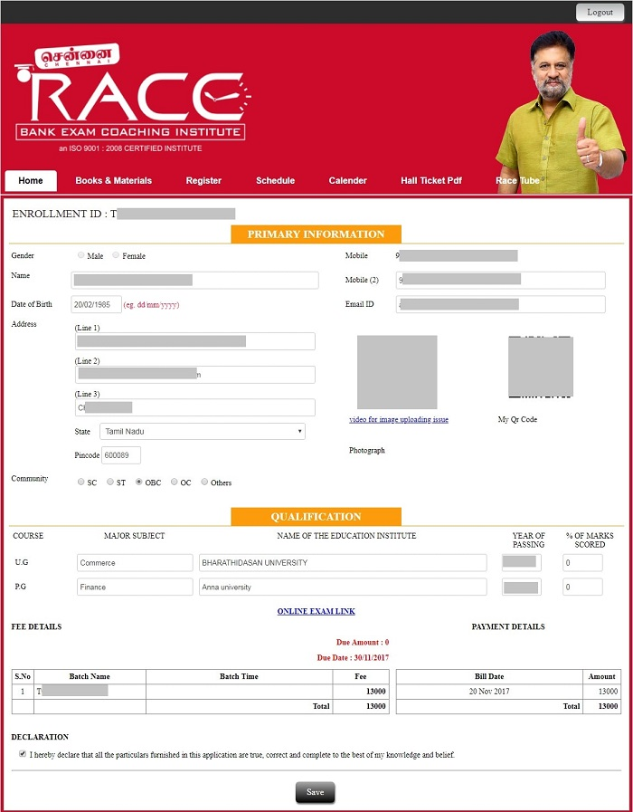RACE INSTITUTE - STUDENT DSHBOARD -simbatech 1-min