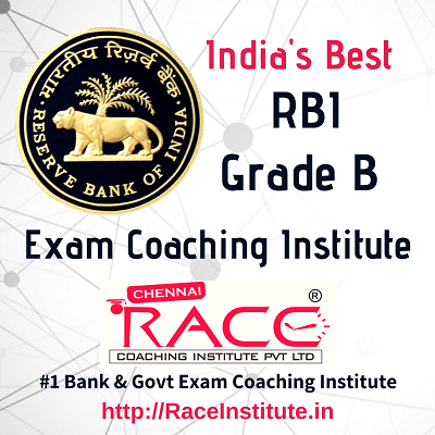 TOP - #1- BEST RBI GRADE B EXAM COACHING INSTITUTE - RACE INSTITUTE