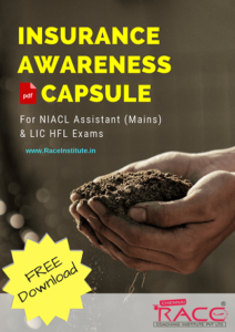 Insurance Capsule for LIC HFL & NIACL Assistant Mains 2018