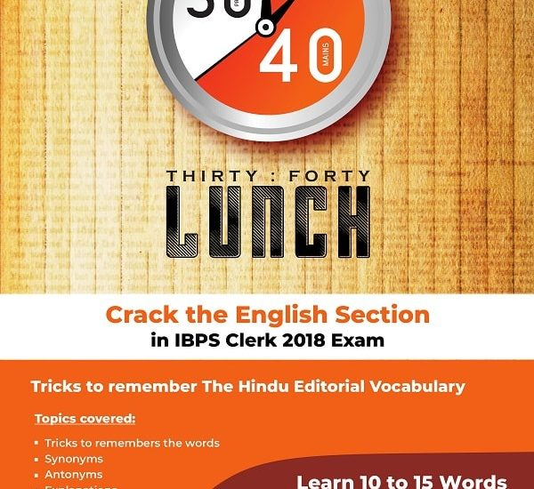 English Editorial Special Session & Online Test IBPS Clerk 2018