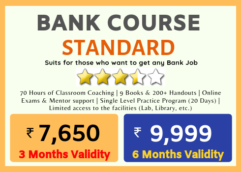 INDIAS BEST BANK EXAM COACHING - BEST COMPETITIVE EXAM COACHING - RECOGNIZED - CRASH COURSES - CRACK ANY BANK EXAMS IN JUST - JOIN RACE