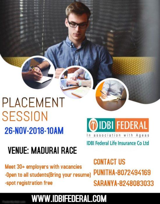 IDBI placement session raceinstitute