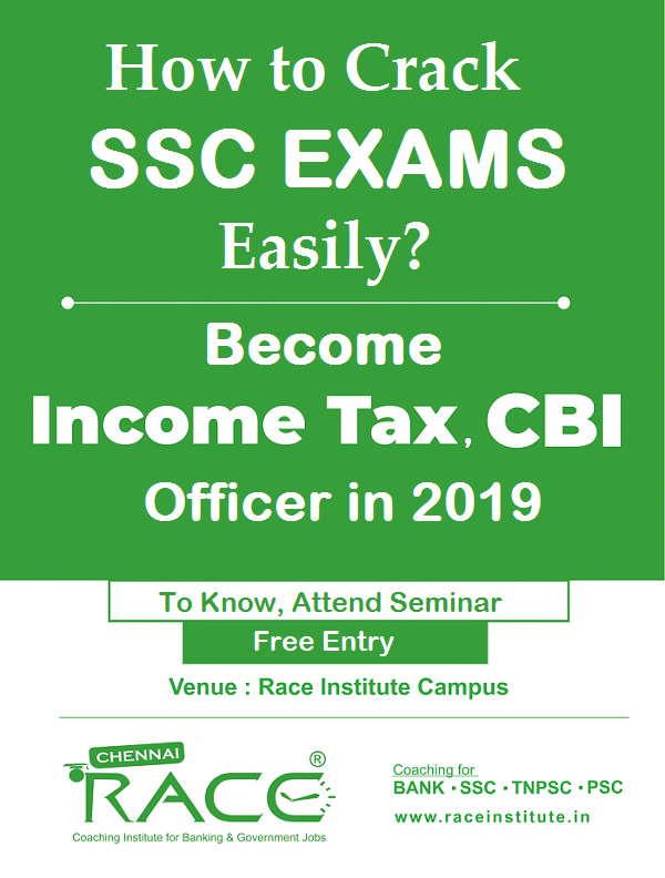 how to crack ssc exams - attend free seminar and crack income tax cbi like exams in 6 months - sure central govt job - attend for free class - ssc training