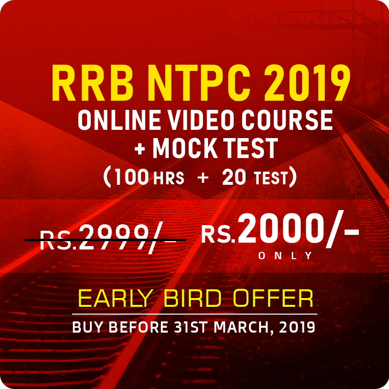 RRB NTPC VIDEO COURSE - BUY FROM A MOST TRUSTED COACHING INSTITUTE - CRACK RRB NTPC 2019 - ONLINE VIDEO COURSE