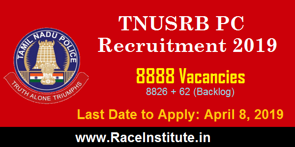 TNUSRB PC NOTIFICATION 2019 - RACE INSTITUTE
