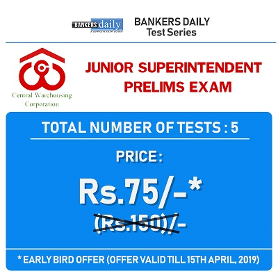 Buy 5 Online Mock Exams & Crack CWC 2019 - 571 Posts - Best Mock Exams for CWC recruitment 2019 - Buy for Early Bird Offer-RACE Institute