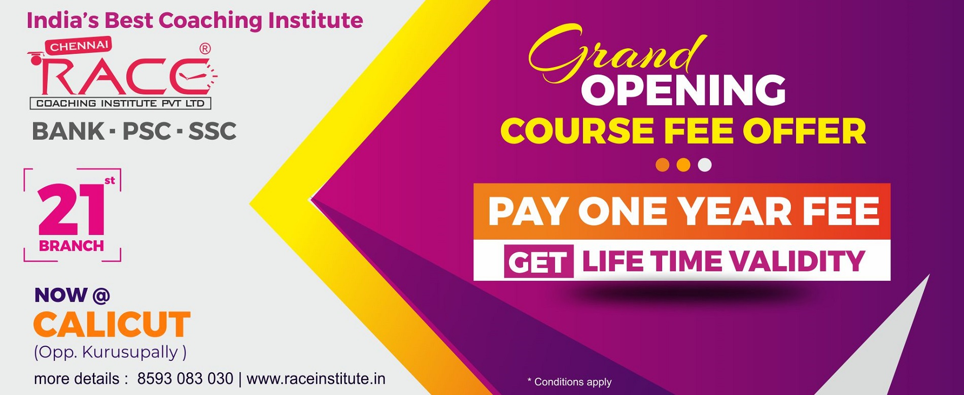RACE Institute Calicut Kozhikode Branch - Special Offer Best Bank SSC PSC Exam Coaching Institute in Calcut - Join at Offer Price