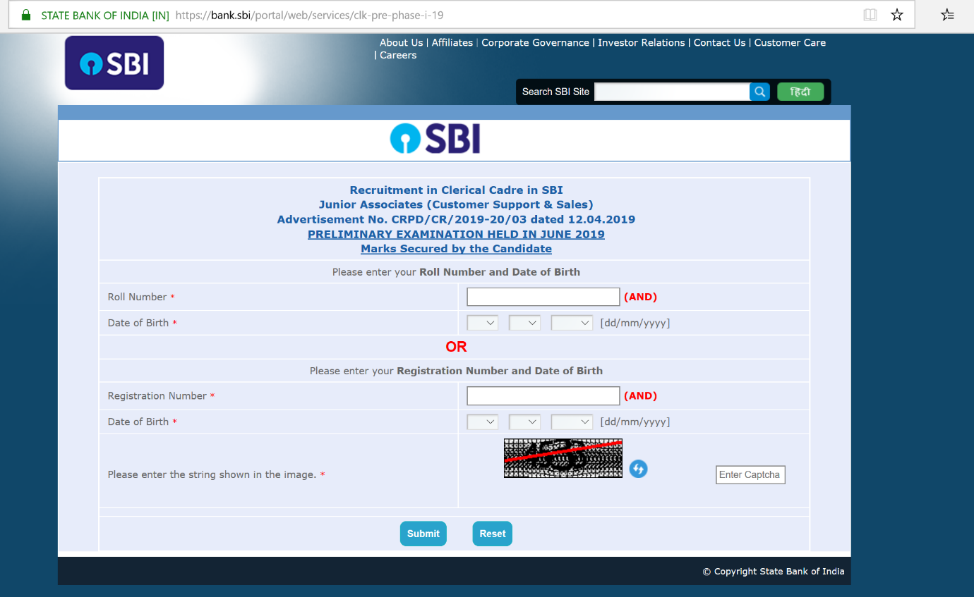 RACE Institute sbi result check