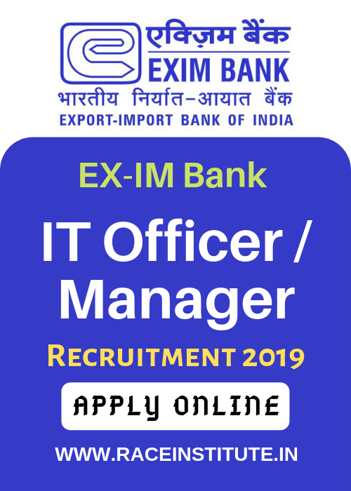 EXIM Bank IT Officer Manager Recruitment 2019 - EXPORT IMPORT BANK - BANK JOB NOTIFICATION - COMPLETE DETAILS-min