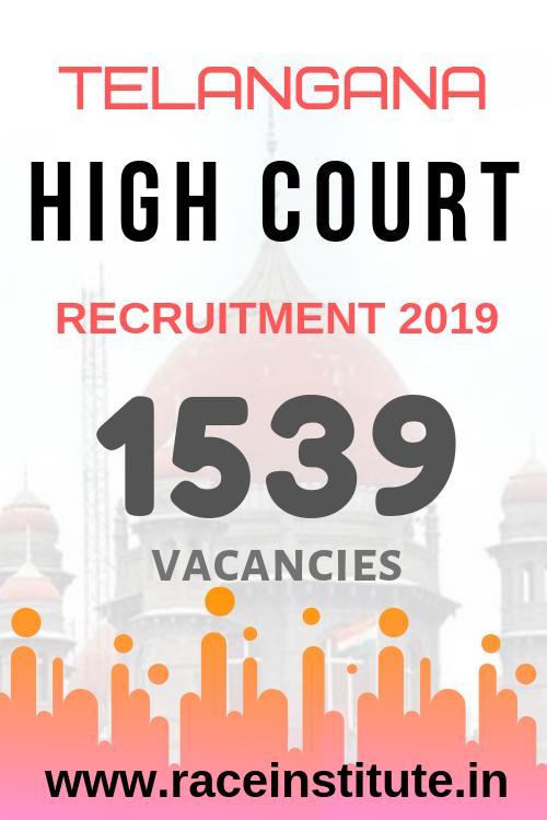 Telangana High Court Stenographer & Subordinate Jobs 2019