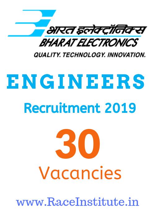 Bharat Electronics Limited Engineers Recruitment 2019