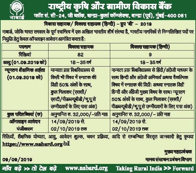 NABARD-Development-Assistant-2019