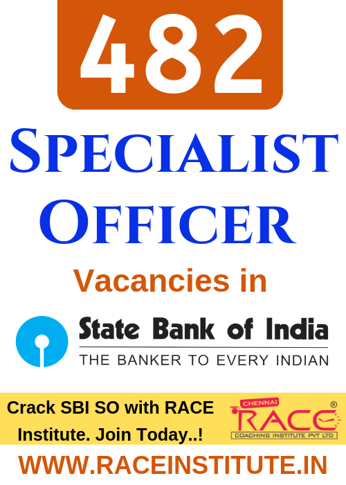 SBI SPECIALIST OFFICER RECRUITMENT 2019 - COMPLETE DETAILS - BEST SBI SO EXAM COACHING INSTITUTE - RACE BANK COACHING
