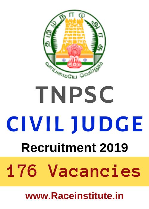 TNPSC Civil Judge Recruitment 2019 – 176 Vacancies - Apply